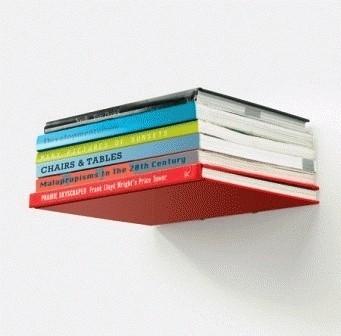 Jual Rak Buku Unik Buku Seperti Melayang Invisible