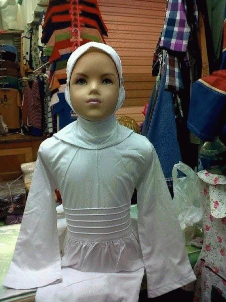 Jual Baju Muslim Anak Cewe Gamis Putih Dn Souvenirs