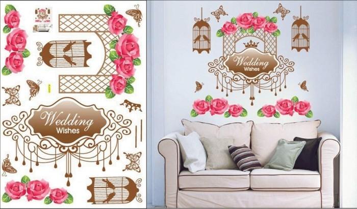 jual wall sticker / wallsticker / wallpaper / stiker dinding wedding
