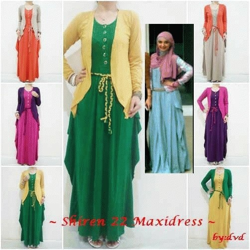 Jual Baju Gamis Muslimah Shiren Maxidress Busana