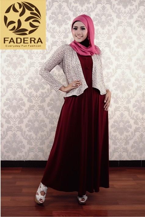 Jual New Paket Red Famous Dress Cardi Busana Muslim Fadera Kota Yogyakarta Fadera Hijab Wear Shop Tokopedia