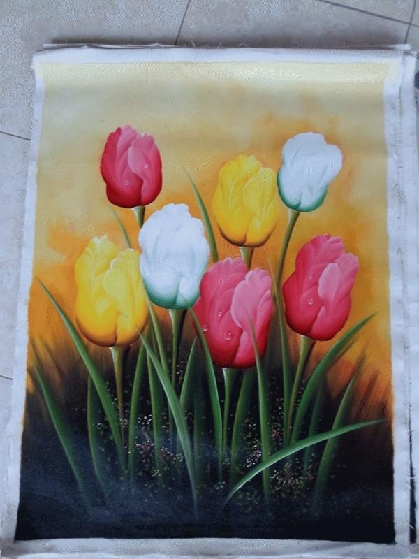 Jual Lukisan Bunga Tulip Kab Gianyar Ari Lestawan Tokopedia
