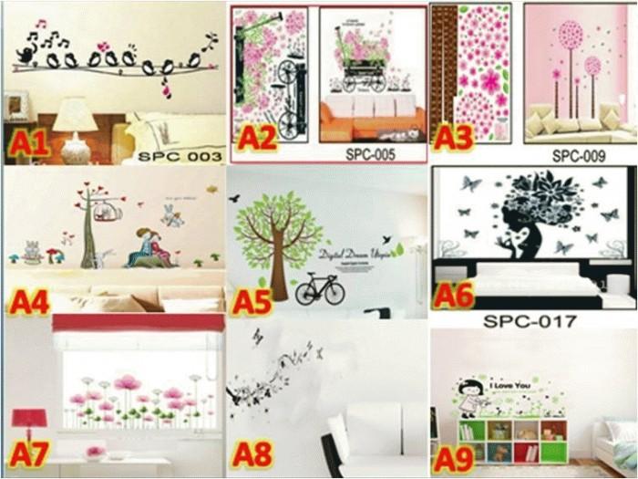 jual wall sticker 50x70 cm wallpaper dinding interior dekorasi