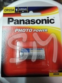 Baterai (battery) Lithium Panasonic CR123A 3v (volt)