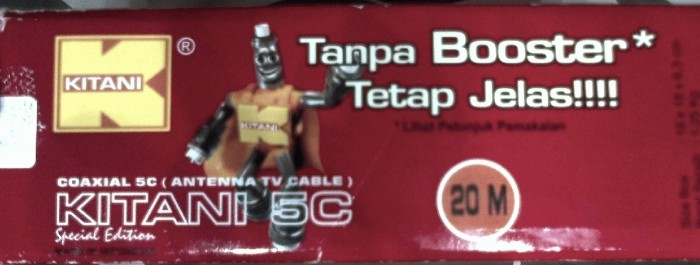 harga Kabel antena tv tanpa booster kitani 5c 20m Tokopedia.com