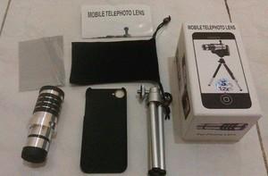 harga Lens tele camera iphone 4 dan iphone 5 - 12 x zoom - stand tripod - lensa kamera berdiri Tokopedia.com