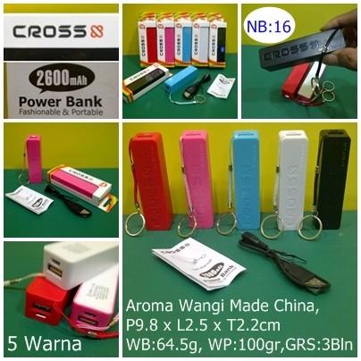 Power Bank Cross (CR-2600mAh-NA1)- Parfum