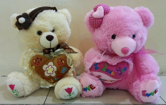 Boneka Valentine - Boneka Teddy Bear Love Pita (Couple)