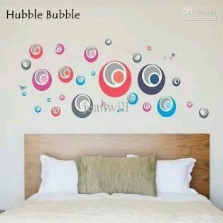 jual hubble bubble wall sticker, wallsticker, wall stiker transparan