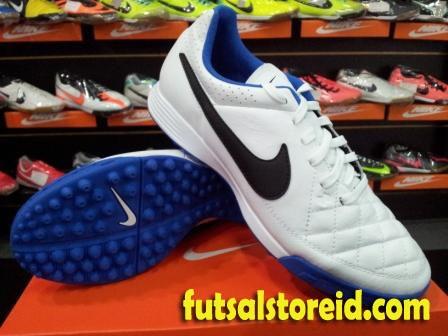 Sepatu Futsal Rumput Sintetik Nike Tiempo Genio Putih Biru Original Resmi 533b5fe364