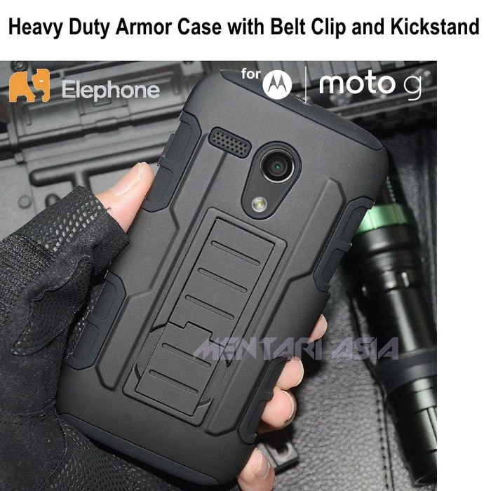 harga Armor case for moto g : elephone heavy duty - belt clip - kickstand Tokopedia.com