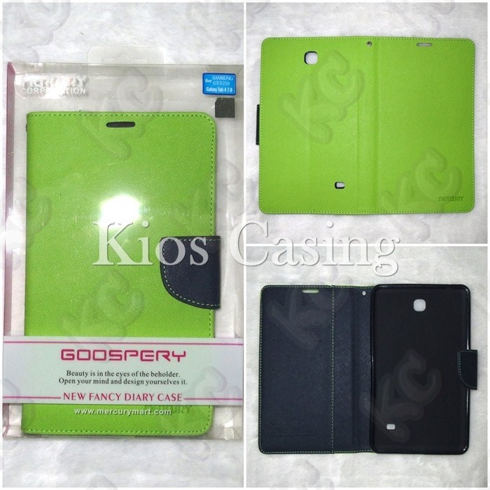 Mercury Fancy Diary Wallet Case Samsung Galaxy Tab 4 7 T231 Casing Sarung .