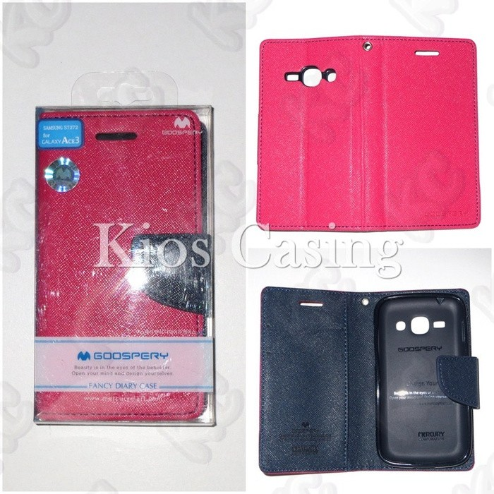 Mercury Fancy Diary Wallet Case Samsung Galaxy Ace 3 S7270 .