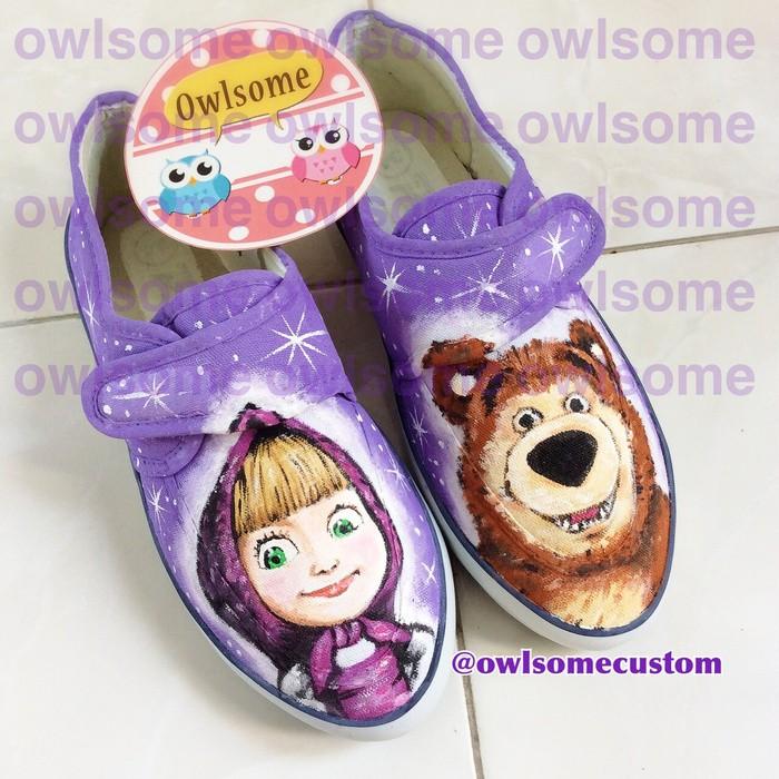 harga Sepatu masha and the bear sepatu lukis sepatu custom baby sampai dewasa Tokopedia.com