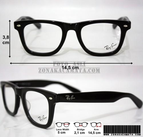 4bef6381825 Jual Frame Kacamata RayBan 5121 (Premium Quality) Black - Kota ...