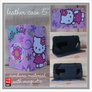 harga Leather case hello kitty tablet tab 5   inch universal cover tempat hp Tokopedia.com