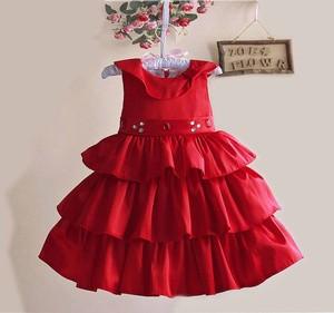 harga Baju anak - zoe merah 3 layer dress Tokopedia.com