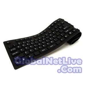 Flexible Mini Keyboard USB - Hitam