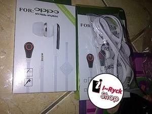 Headset handsfree oppo model r1 joy yoyo muse clover find 5 mini oem