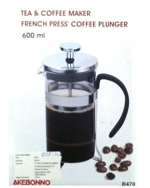 harga Tea & coffee maker french press coffee plunger akebonno 600ml Tokopedia.com