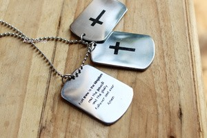 harga Necklace personalized name / kalung nama dog tag salib Tokopedia.com