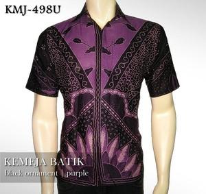 Foto Produk KEMEJA BATIK MODERN | Black Ornament PURPLE| KMJ-498U dari Rajapadmi Batik