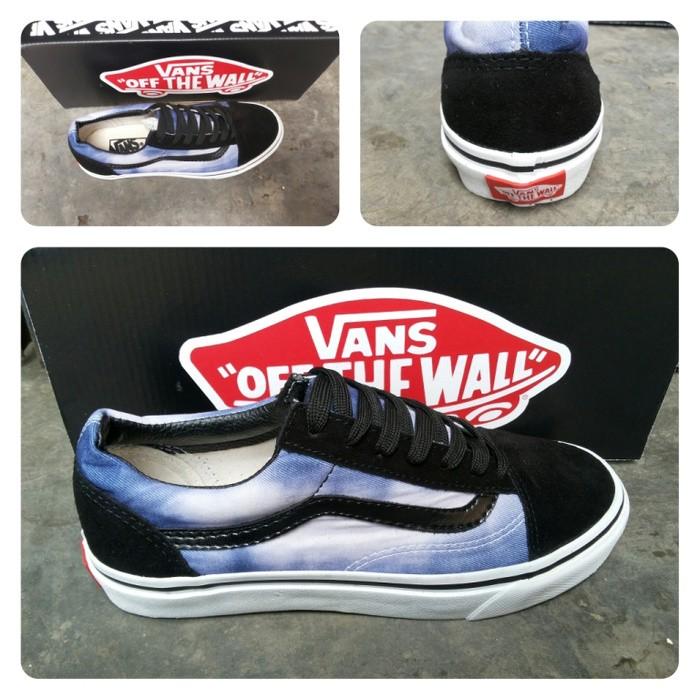 0c5efbd38851 Jual sepatu vans oldskool motif galaxy blue waffle ifc import ...