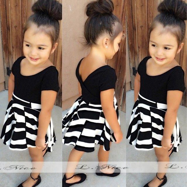 stelan anak perempuan fashion black and white cln2801