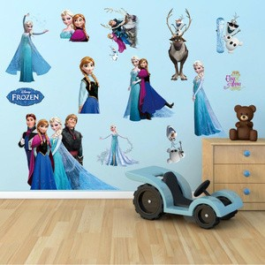 jual wall sticker 3d timbul frozen dekorasi interior kamar anak