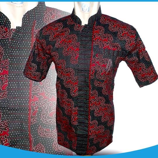 Jual Rp 36000 HEM BATIK PRIA 0703-15 Batik Merah Kerah Koko ... ccf909e4ab