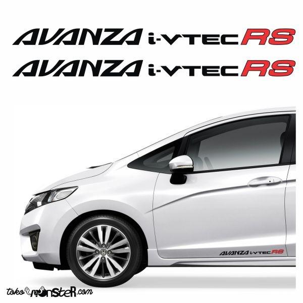 Tokomonster Decal Avanza i-vtec RS Sticker RS Samping Mobil - 1set