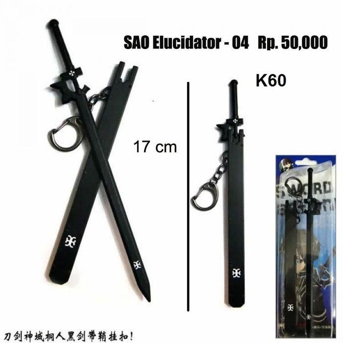 Foto Produk gantungan kunci pedang,keychain,anime sword art online,kirito dari spade shop