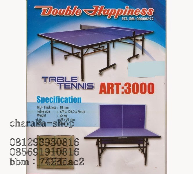 TENIS MEJA DHS DOUBLE HAPPINESS ART 3000