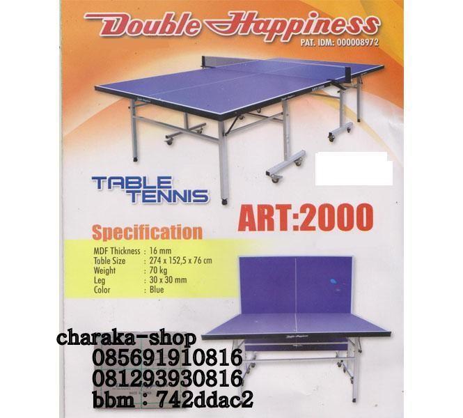 Meja Ping Pong Dengan Merk DOUBLE HAPPINESS ART 2000