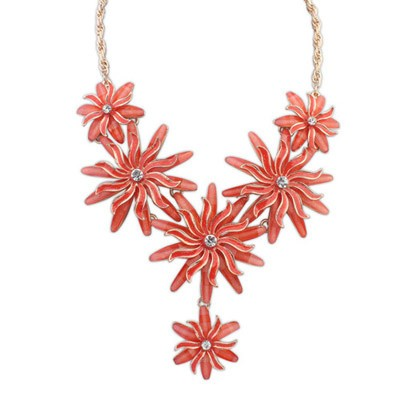 Kalung korea american flower red kn53192
