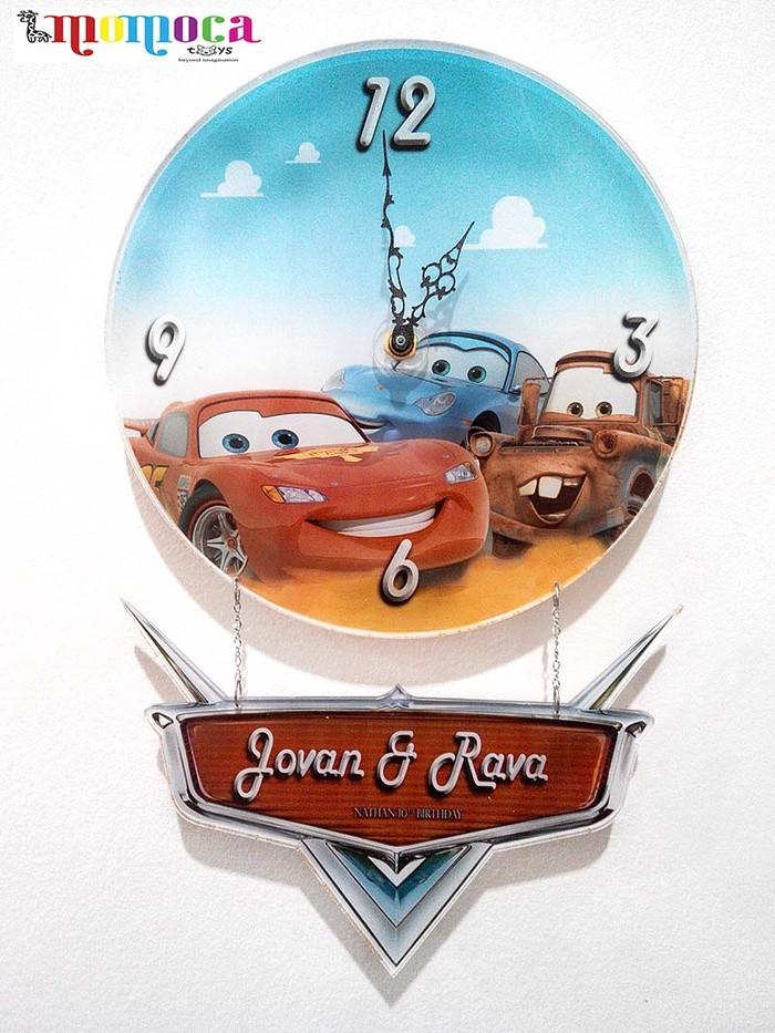 jam dinding cantik cars mcqueen bisa dituliskan nama anak hiasan kamar f9898c2ef1