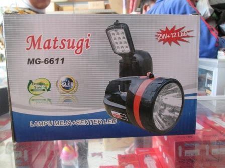 harga Senter matsugi mg-6611 /  lampu meja + senter 12 led Tokopedia.com