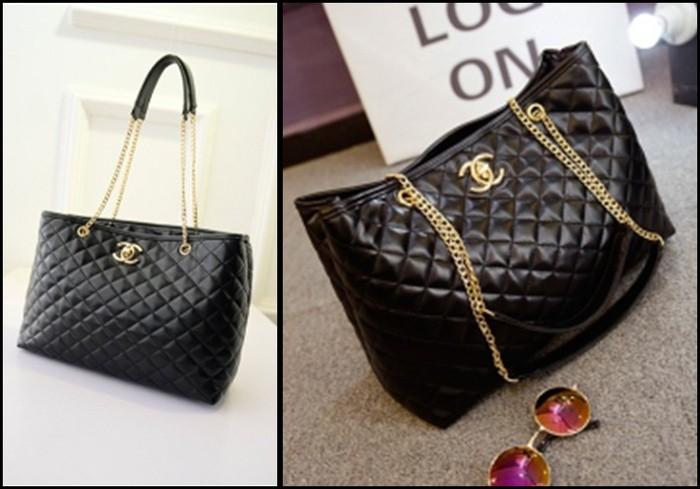 Jual Tas Rantai   Chain Chanel Import Warna Hitam Murah Berkualitas ... aa2511e705
