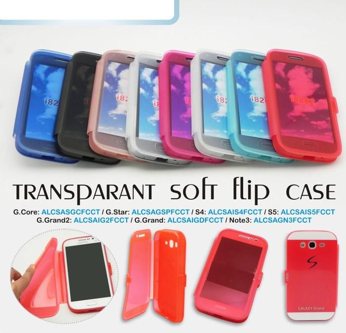 Soft case flip cover/flipcover crystal samsung galaxy star pro