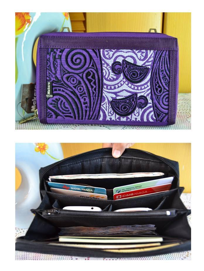 Dompet wanita unik makara plain porta viola