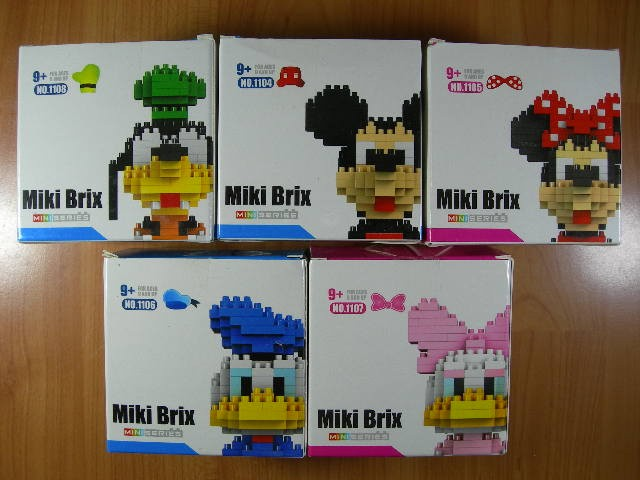 Lego cogo mini series goffe-mikey-minnie-donald-deasy