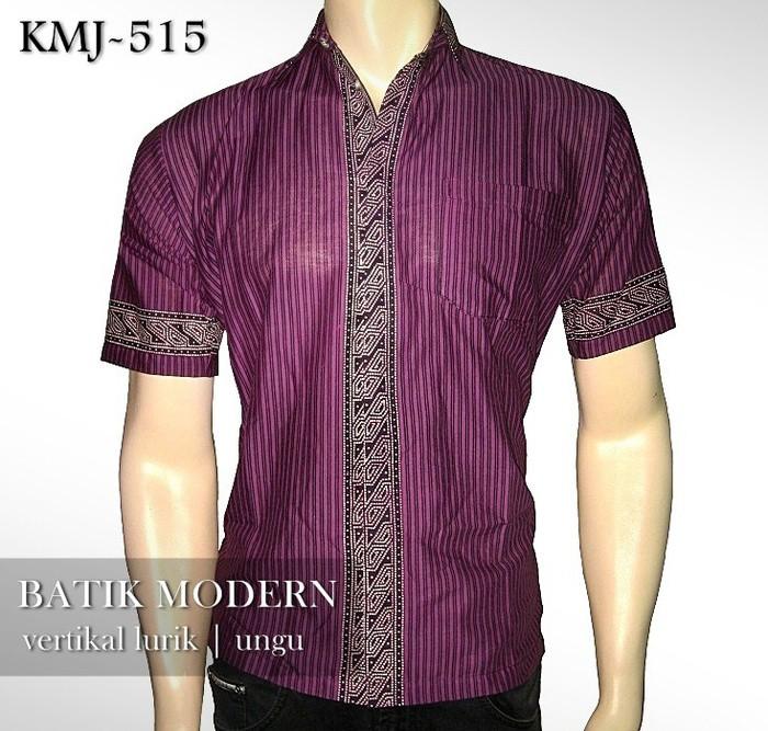 Foto Produk BATIK MODERN | Vertikal Lurik UNGU | KMJ-515 dari Rajapadmi Batik