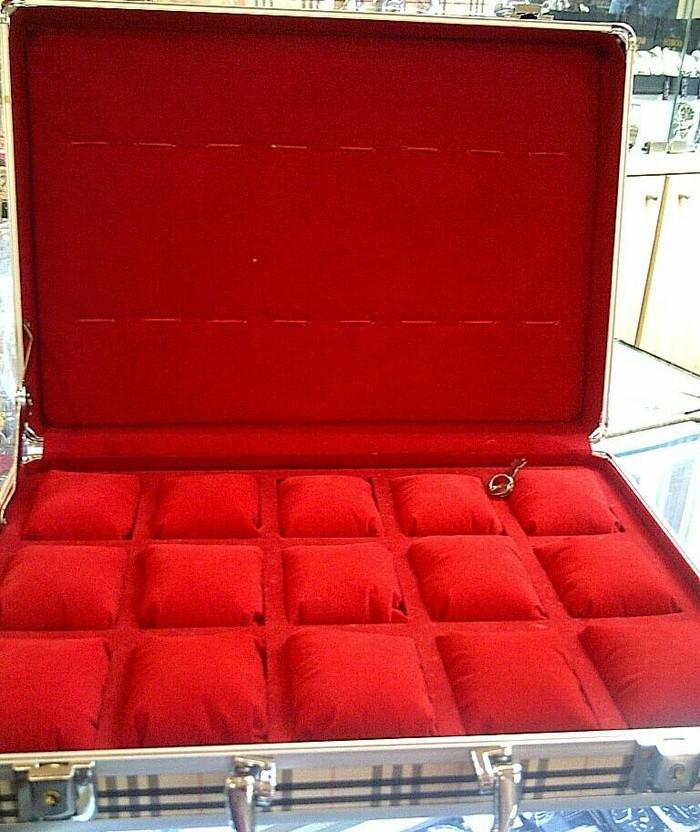 Box   koper jam tangan aluminium bantal isi 15+8 (untuk menyimpan… 31c437a5d4