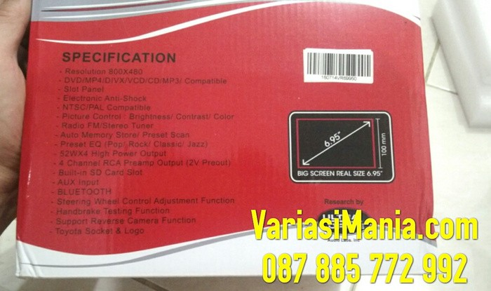 "Double Din HU DVD Varity VR-6995 6.95"" Bluetooth + Antena TV"