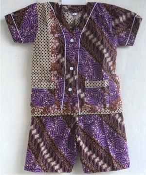 Jual Baju Tidur Piyama Anak Batik Pendek Size 0