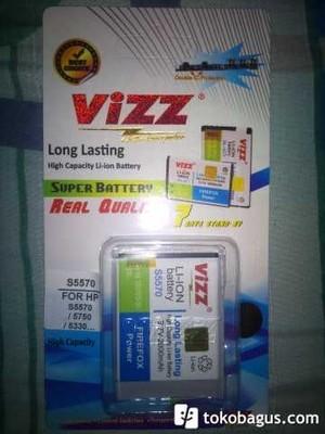 harga Galaxy mini 2000mah battery / baterai vizz double power samsung galaxy mini s5570 / s5750 / s5330 / andromax e860 Tokopedia.com