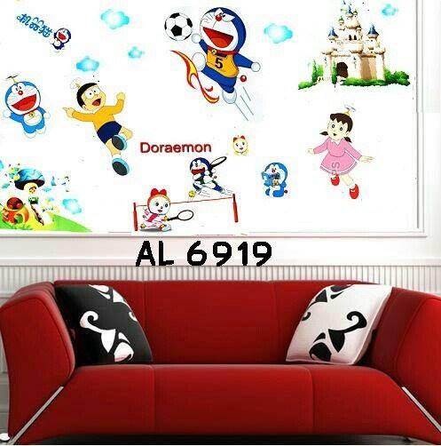 jual wall sticker doraemon and friends - wallsticker surabaya
