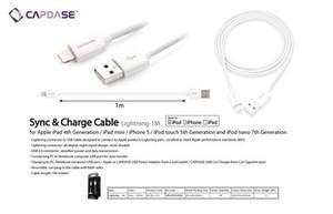 harga CAPDASE Cable Lightning iPhone 5 iPod Touch 5th gen iPad Air iPad Mini Retina Display Tokopedia.com