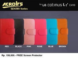 harga Flipcover lg optimus l1-ii e410 : acrolrs flip cover case + free sp Tokopedia.com