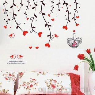 jual stiker dinding akar hati - kota surabaya - wallsticker surabaya
